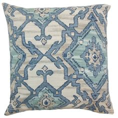 Toss this ikat-print cotton pillow on the arm chair for a stylish finishing touch, or pair it with cool-hued medallion patterns to give the sofa a boho-ch...