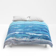 Choppy Ocean Painting Comforters