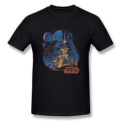 Jahei Custom Star Wars Vintage Art Graphic Mens T Shirts 100 Cotton Black XXL >>> Want to know more, click on the image.