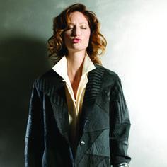 Long  zigzag jacket, black mix. $1995.