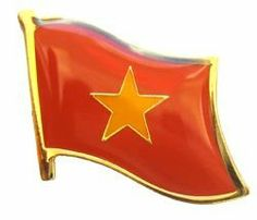 "North Vietnam - National Lapel Pin by flagline. $2.25. .75"" x 1"" Single Lapel Pin. Our lapel pins are a great way to show support or show off your heritage. The pins are die-struck from a high quality steel alloy. The recessed colors allow for finer reproduction of details and a top epoxy coating creates a surface smooth to the touch.. Save 43% Off!"