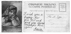 Postcard from Maria Romanov to her former English tutor, John Epps, 1910