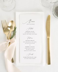 Wedding Reception Amelia Wedding Menus - A romantic serif font mixed with modern calligraphy makes a big statement on these gorgeous wedding invitations. Shown in black ink with a garden rose envelope liner and belly band in navy blue. Wedding Dinner Menu, Wedding Menu Cards, Wedding Table, Wedding Day, Wedding Ceremony, Wedding Foods, Wedding Catering, Wedding Signage, Olive Wedding