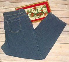 5d5373ca453 Basic Editions Women s Size 18 Short Stretch Jeans Straight Dark wash EUC   BasicEditions  StraightLeg