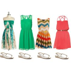Cruise Casual -- great dress options for casual dinner nights or strolling around the ship.  Dresses are very easy to pack and take up little room, plus the same pair of sandals goes with them all!
