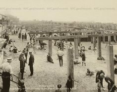Coney Island Boardwalk, under construction,looking East from Martinos Bath, July 21, 1922. Photo by Edward E. Rutter