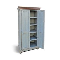 Our Sonoma Cabinet is the perfect blend of Form and Function and serves many uses, from a bedroom wardrobe, to china cupboard to whatever use you have in mind. Shown in our Dark Walnut stained Crown and Weathered Nantucket Blue case and produced from solid Reclaimed/Salvaged Pine. Many finishes options, and custom sizes available, just ask.   Sonoma Wardrobe Cabinet $895 36 wide x 22deep x 78 high 2 doors w/ 5 shelves  Sonoma Wardrobe Cabinet $985 42 wide x 22deep x 78 high 2 doors w/ 5…