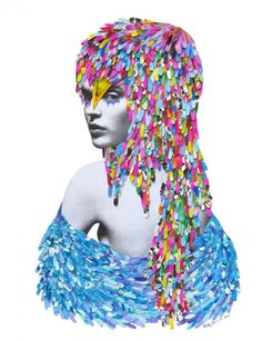 NIKY ROEHREKE FASHION MIXED MEDIA ILLUSTRATIONS  BY CYRIL FOIRET