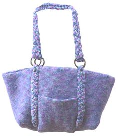 Felted Bag with Braided Handles Knitting Pattern from Caron Yarn | FaveCrafts.com