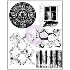 "Finnabair Cling Stamps 6""x7.5"" - Old Town"