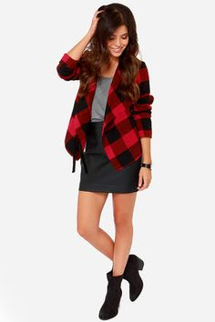 Cute oversized buffalo plaid #featuredpin