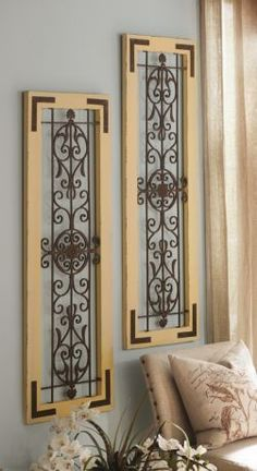 Adelaide Wall Plaque Set Of 2 Bedroom Decor Metal Walls And Wall Decor
