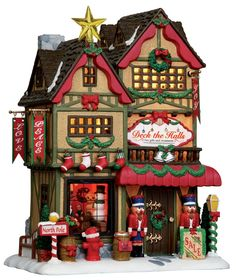 deck, halls, christmas shop, santa by Lemax Collections