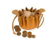 Geldbeutel klein, natur - Art-of-Crafts Bucket Bag, Arts And Crafts, Mens Fashion, Bags, Leather Pouch, Traditional, Money, Nature, Moda Masculina