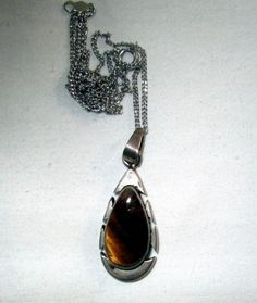NECKLACE   TIGERS EYE  Mexico  Estate Sale   by MOONCHILD111 https://www.etsy.com/shop/MOONCHILD111