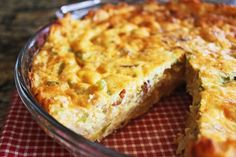 Skinny Points Recipes  » Ham & Cheese Hash Brown Quiche Recipe