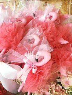 our fuschia tulle flamingo baptism bonbonieres! www.cottonprince.gr