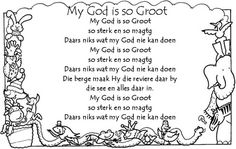 My God is so Groot Bible Songs For Kids, Kids Poems, Bible Lessons For Kids, Children Songs, Preschool Poems, Rhyming Activities, Sunday School Songs, Physical Activities For Kids, Prayers For Children