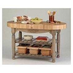 john boos kitchen island   As a kitchen workstation or small island, the American Heritage Harvest table is a beautiful as it is functional. Made from four-inch-thick, solid end grain Northern hard rock maple, its impressive butcher-block top will provide years of service. 60 x 30.  for sale