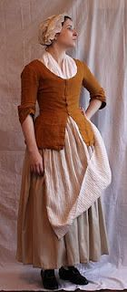 working woman's outfit.  Note the shorter petticoat