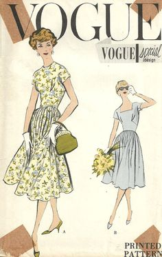 Vogue 4866 Vintage 50s Special Design Sewing by studioGpatterns