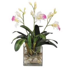 faux orchid arrangement