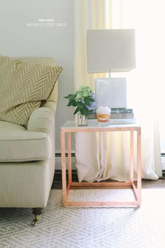DIY Ikea Side Table Hack |   Read more - http://www.stylemepretty.com/living/2013/07/22/diy-ikea-side-table-hack/