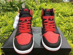 New Jordans 2018 Mens Air Jordan 1 Retro High Ban Banned-1 Jordans 2018 32ab3649cf