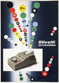 Olivetti Divisumma Poster, Designed by Giovanni Pintori, 1951
