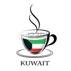 logotipo de café hecho de la bandera de Kuwait... Clipart, Norway, England, Mugs, Tableware, Logo, Flag Of England, Great Britain, London