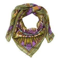 ACHICA | Lisbeth Dahl Green multi patterned Scarf