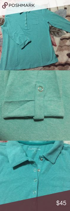 Green Blouses 3/4 long sleeve green blouse new with no tag croft & barrow Tops Blouses