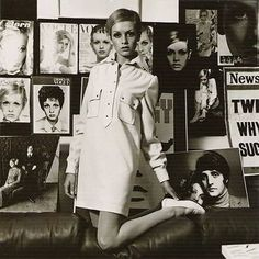 Twiggy wearing a Mary Quant tunic dress