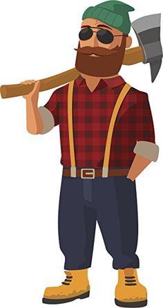 logger cartoon images cartoon lumberjack holding an axe vector rh pinterest com Lumberjack Logo Female Lumberjack Cartoon