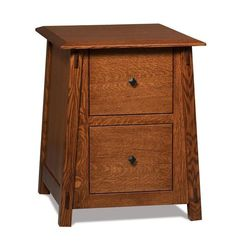 Amish Colbran Two Drawers File Cabinet Mission style solid wood storage is yours with the Colbran. Amish made in Indiana and you select the wood, stain and hardware that matches your office best. #filecabinets #Amishfurniture #officefurniture