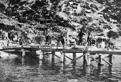 Australian Engineers building a jetty Anzac Cove, Gallipoli 25th April, 1915