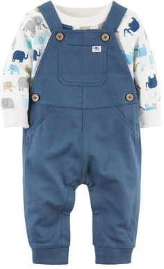 Carter's Baby Boys' 2 Piece Animal Print Top And Knit Overalls Set Baby Outfits, Swag Outfits, Toddler Outfits, Kids Outfits, Carters Baby Clothes, Carters Baby Boys, Baby Kids Clothes, Baby Boy Overalls, Baby Girls
