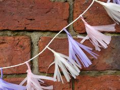 Cream, pink and lilac tissue tassels from the Delysia collection  Paper decorations by Paper Street Dolls  Check out our store - paperstreetdolls.etsy.com Luxury handmade paper decorations