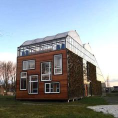 Located in Rotterdam, this Concept House features a huge rooftop garden, and uses natural heating and cooling techniques to keep maintenance costs down.