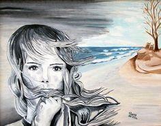 Nel vento riaffiorano i ricordi - Olio su tela - cm. 40 x 50 - Anno: 2004