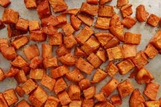 The 4 Commandments of Roasting Sweet Potatoes Delish Sweet Potatoe Bites, Potato Bites, Sweet Potato Recipes, Vegetable Recipes, Cooking Recipes, Healthy Recipes, Healthy Dishes, Side Recipes, Healthy Foods