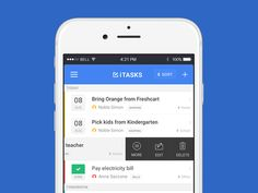 Todo list and task manager app - 12 screens attached