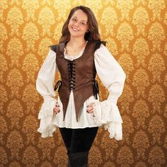 Gothic Leather Medieval Leather Bodice - medieval renaissance clothing costumes