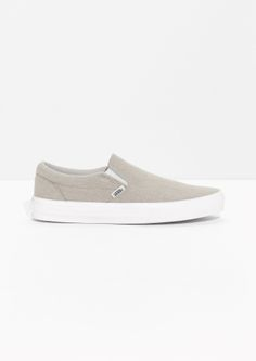22e3323dde3fdb Other Stories image 1 of Vans Linen Classic Slip-On in Beige High Heel