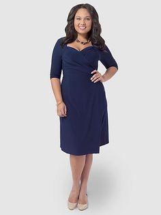 485c67015d7 Gwynnie Bee    Navy dress with sweet heart neckline