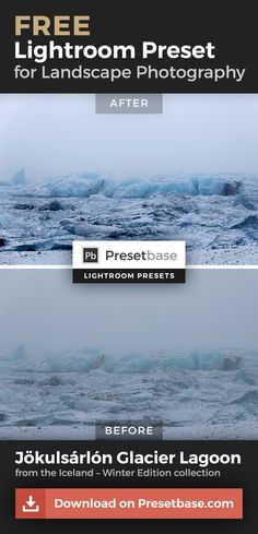 FREE Lightroom Presets for Landscape Photography by @presetbase / Download all 10 samples and see how these presets will save you time editing your photos in Lightroom!