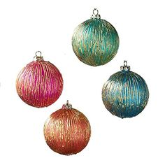 One Hundred 80 Degrees Orange Pink Blue Green Gold Glass Ornaments (Set/4) One Hundred 80 Degrees http://www.amazon.com/dp/B017L9E0KI/ref=cm_sw_r_pi_dp_wk7twb1H1B485