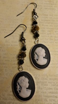 Beautiful Cameo Earrings by ArtisticDesignsKS on Etsy, $5.99