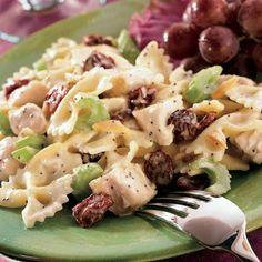 Dried Cranberry-Nut Chicken Pasta Salad add Smoked Gouda cheese