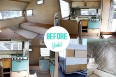 renovating old camper from start to finish   Our Vintage Trailer Makeover // A How To Guide! » Michelle Sullivan ...